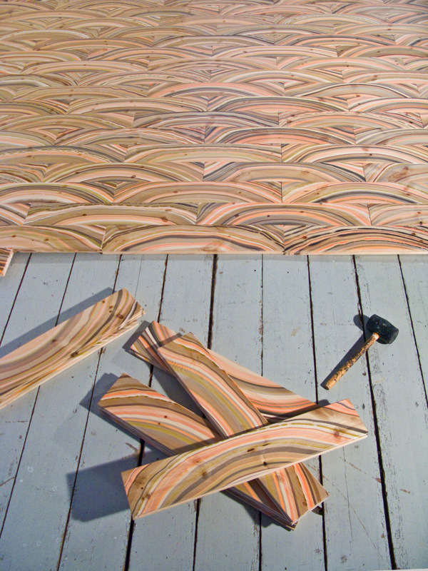 Arcademi_Marbelous-Wood_Pernille-Snedker-Hansen_floor-laid-out-w-hammer